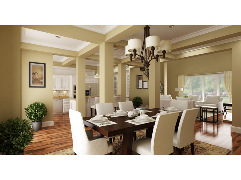 Craftsman House Plan Dining Room Photo 01 - Layton Country Craftsman Home 020D-0344 | House Plans and More