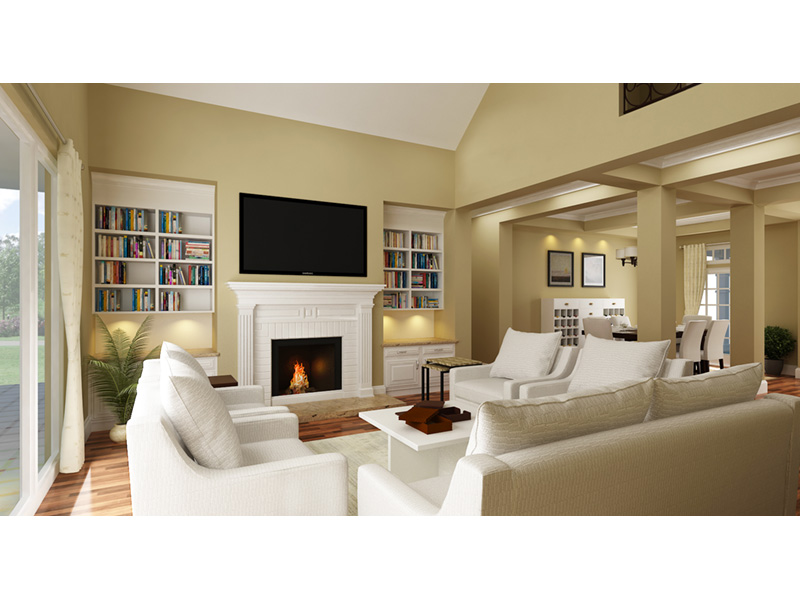 Craftsman House Plan Living Room Photo 01 - Layton Country Craftsman Home 020D-0344 | House Plans and More