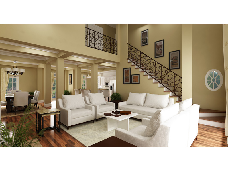 Craftsman House Plan Living Room Photo 02 - Layton Country Craftsman Home 020D-0344 | House Plans and More