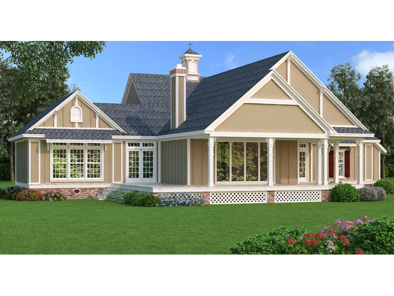 Craftsman House Plan Rear Photo 01 - Layton Country Craftsman Home 020D-0344 | House Plans and More