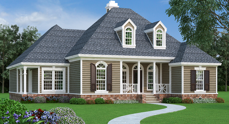 Cape Cod & New England House Plan Front of Home - Dyson Southern Home 020D-0345 | House Plans and More
