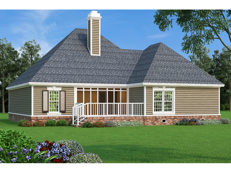 Cape Cod & New England House Plan Rear Photo 01 - Dyson Southern Home 020D-0345 | House Plans and More