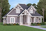 English Cottage House Plan Front of Home - Bambury Tudor Craftsman Home 020D-0346 | House Plans and More