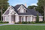 English Cottage House Plan Front Photo 01 - Bambury Tudor Craftsman Home 020D-0346 | House Plans and More