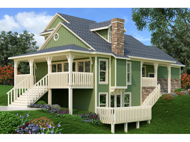 Craftsman House Plan Rear Photo 01 - Simeon Tudor Home 020D-0350 | House Plans and More