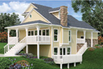 Craftsman House Plan Rear Photo 02 - Simeon Tudor Home 020D-0350 | House Plans and More