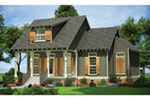 Cabin & Cottage House Plan Front of House 020D-0351