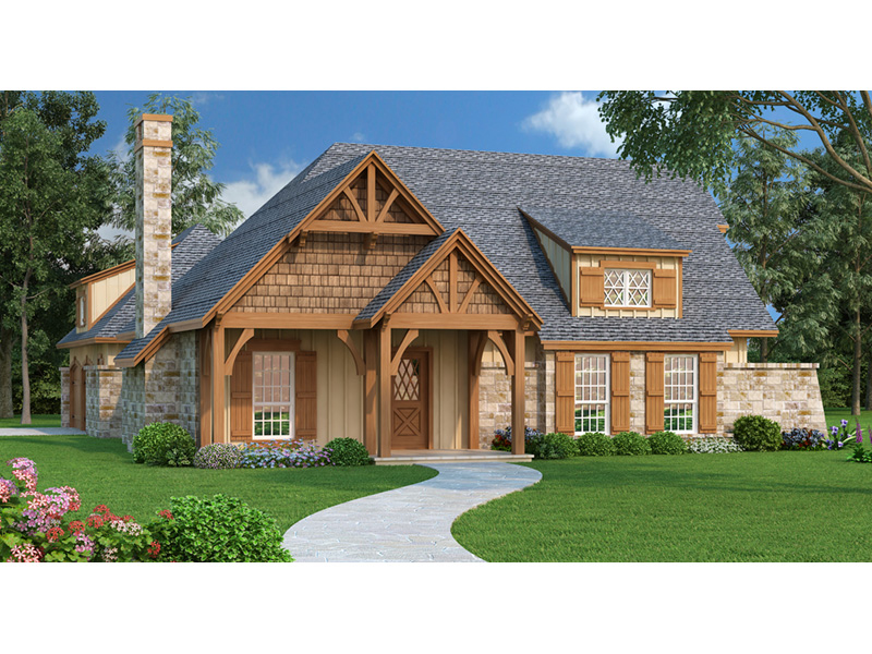 Craftsman House Plan Front of Home - Parkgate Craftsman Home 020D-0352 | House Plans and More