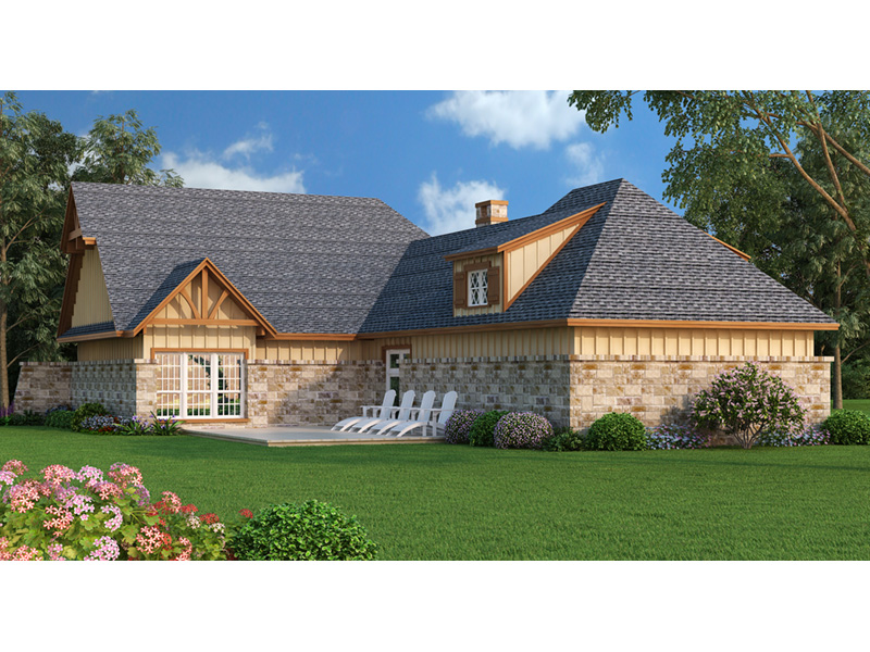 Craftsman House Plan Rear Photo 01 - Parkgate Craftsman Home 020D-0352 | House Plans and More