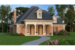 Ranch House Plan Front of House 020D-0353