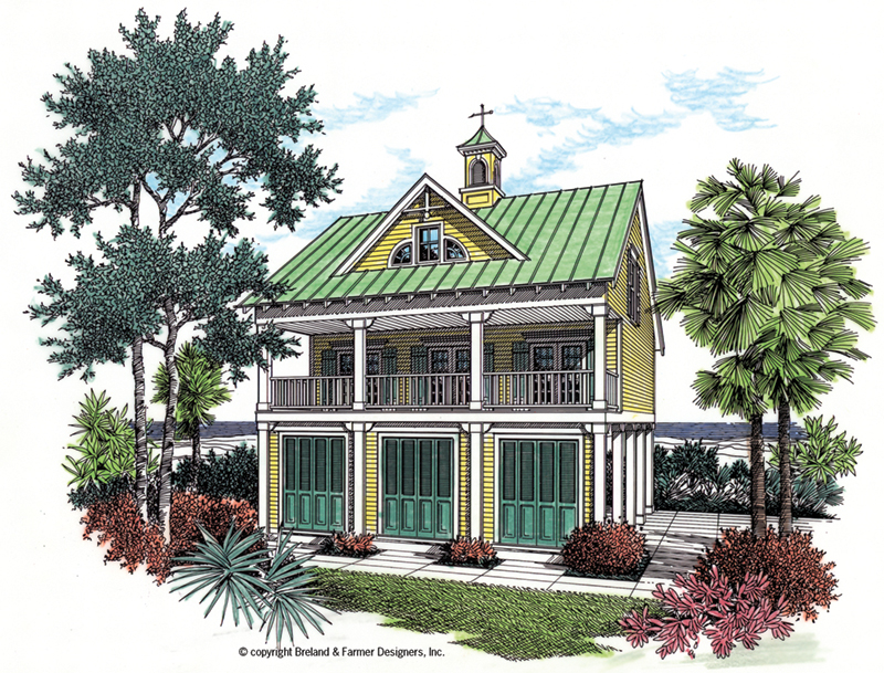 Front of Home - Regatta Landing Beach Home 020D-0355 | House Plans and More