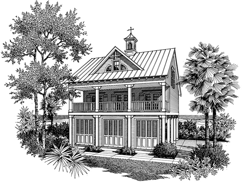 Front Image of House - Regatta Landing Beach Home 020D-0355 | House Plans and More