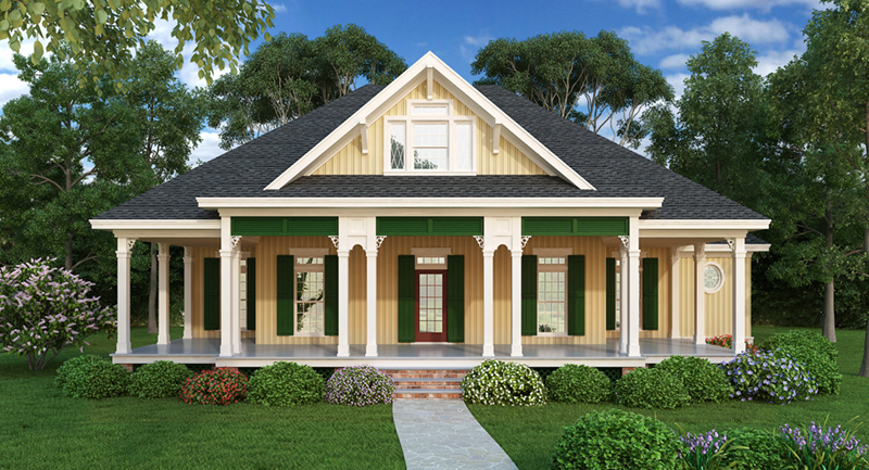 Country House Plan Front of Home - Lantern Lane Country Home 020D-0358 | House Plans and More
