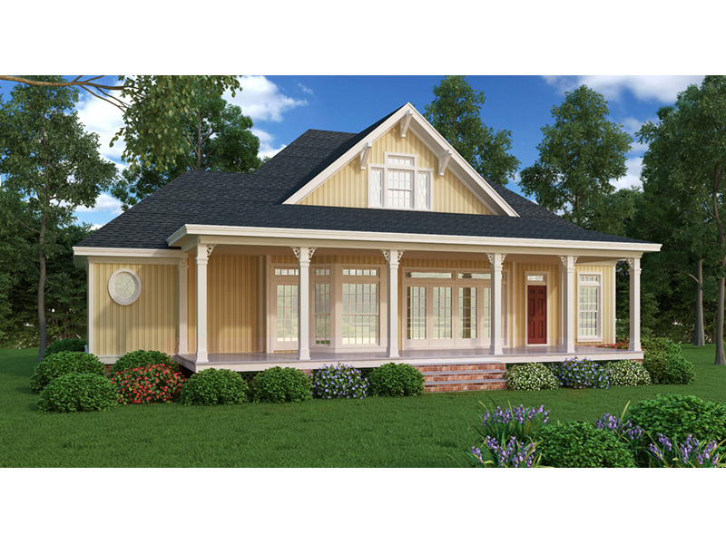 Country House Plan Rear Photo 01 - Lantern Lane Country Home 020D-0358 | House Plans and More