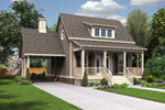 Traditional House Plan Front of Home - Jefferson Bay Traditional Home 020D-0359 | House Plans and More