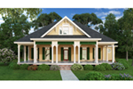 Arts & Crafts House Plan Front of Home - Sophie Spring Acadian Home 020D-0363 | House Plans and More