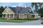 Beach & Coastal House Plan Front Image - Grace Hill Craftsman Home 020D-0365 | House Plans and More
