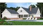 Beach & Coastal House Plan Rear Photo 01 - Grace Hill Craftsman Home 020D-0365 | House Plans and More