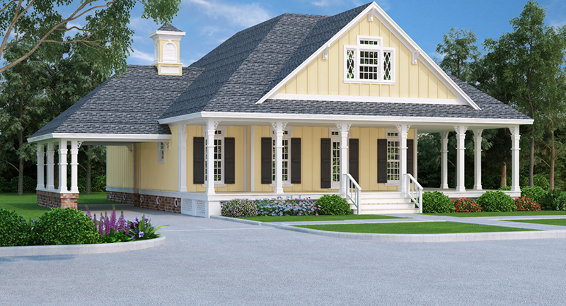 Cabin & Cottage House Plan Front of Home - Oakmeadows Cottage Home 020D-0366 | House Plans and More