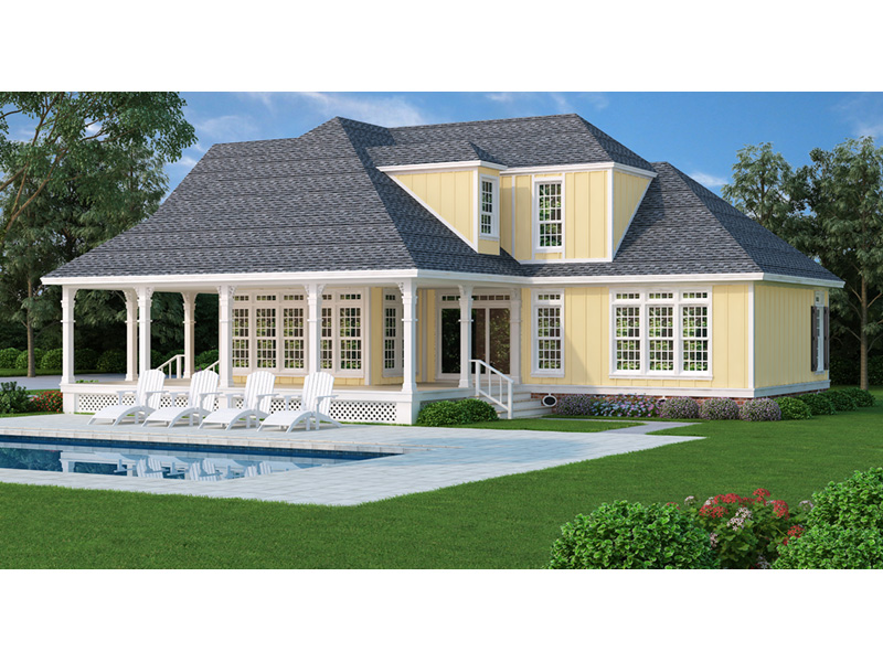 Cabin & Cottage House Plan Rear Photo 01 - Oakmeadows Cottage Home 020D-0366 | House Plans and More