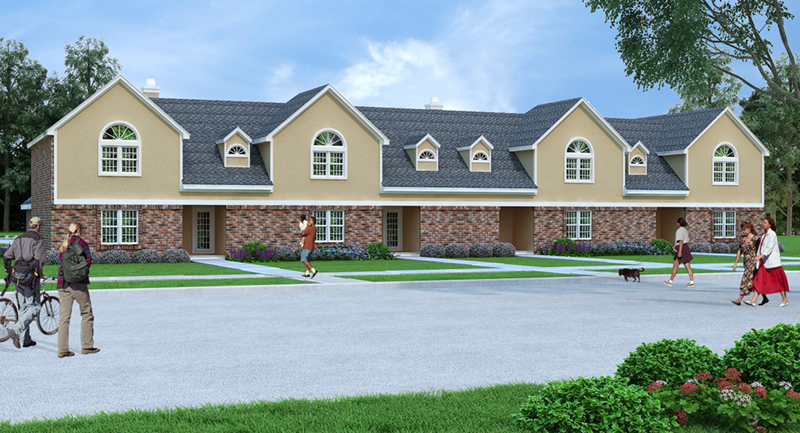 Multi-Family House Plan Front of Home -  020D-0379 | House Plans and More
