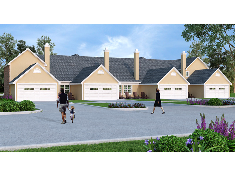 Multi-Family House Plan Rear Photo 01 -  020D-0379 | House Plans and More