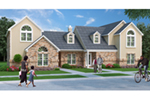 Traditional House Plan Front of Home -  020D-0381 | House Plans and More
