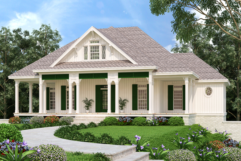 Modern Farmhouse Plan Front of Home -  020D-0386 | House Plans and More