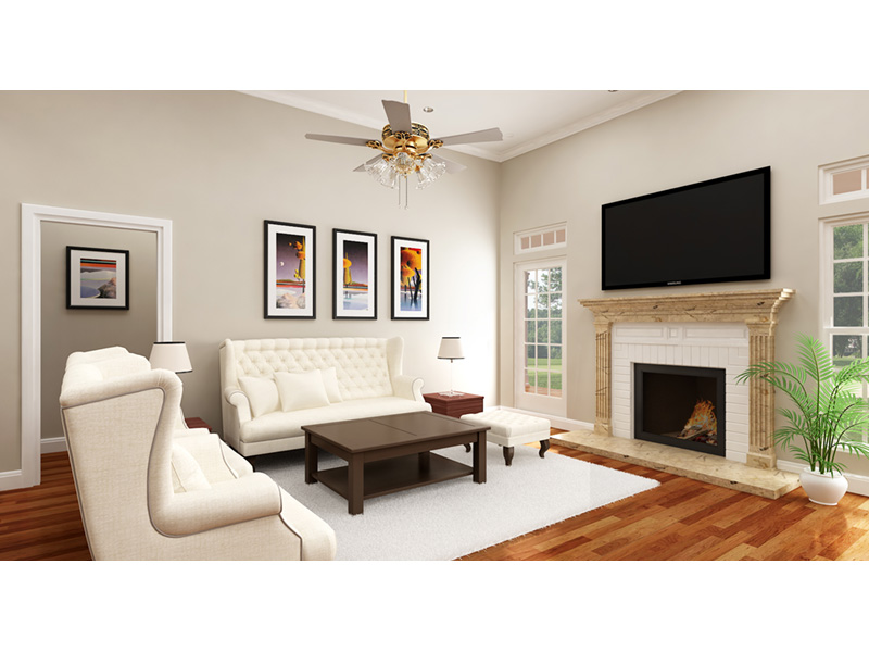 Living Room Photo 01 -  020D-0386   House Plans and More