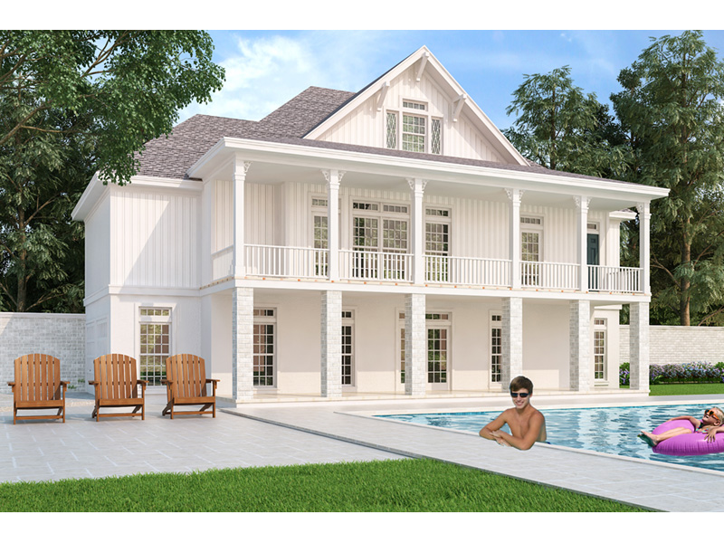 Rear Photo 01 -  020D-0386   House Plans and More