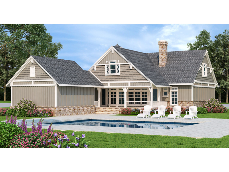 Rear Photo 01 - 020D-0391 | House Plans and More