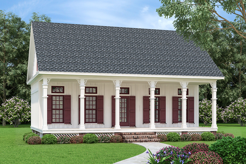 Farmhouse Plan Front of Home - Driscoll Path Southern Cottage 020D-0392 | House Plans and More