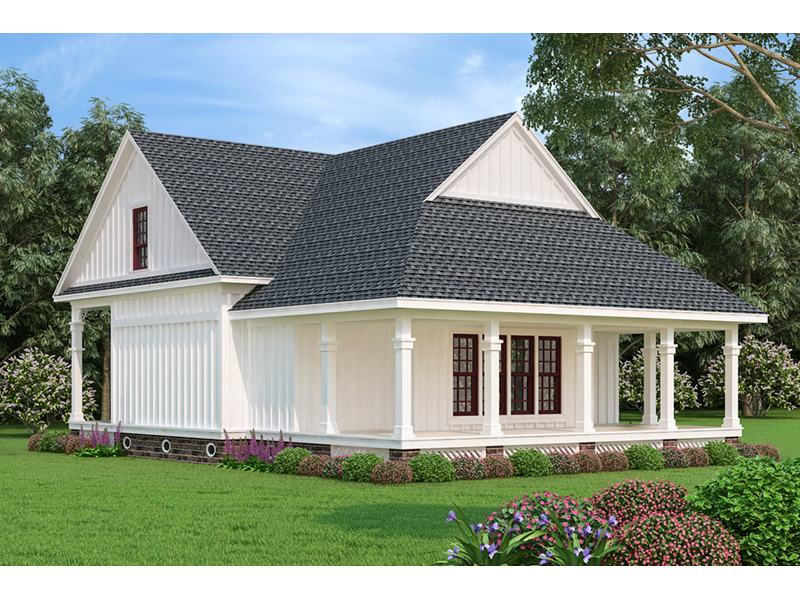 Farmhouse Plan Rear Photo 01 - Driscoll Path Southern Cottage 020D-0392 | House Plans and More