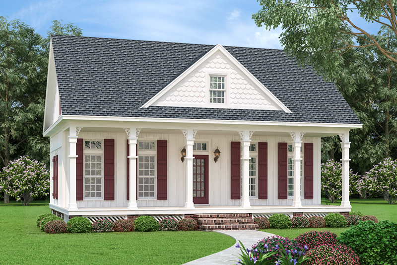 Country House Plan Front of Home - 020D-0393 | House Plans and More