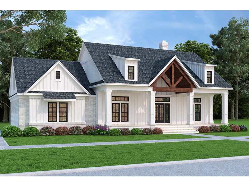Modern Farmhouse Plan Front Photo 01 - 020D-0399 | House Plans and More