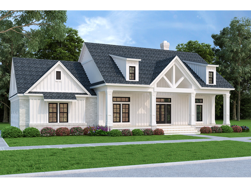 Modern Farmhouse Plan Front Photo 02 - 020D-0399 | House Plans and More