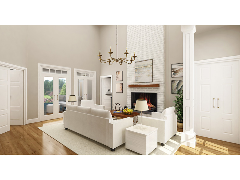 Modern Farmhouse Plan Living Room Photo 01 - 020D-0399 | House Plans and More