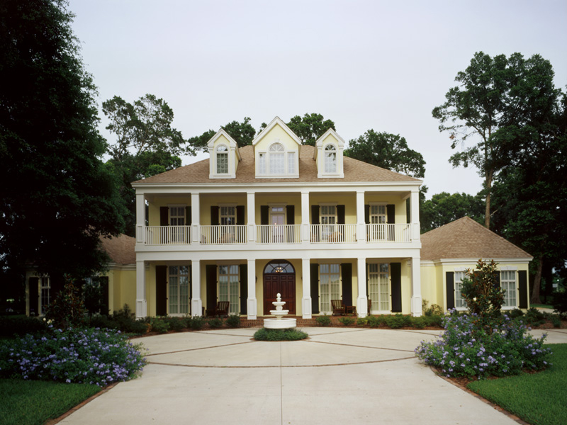Stately Columns Adorn The Front Of This House Plan