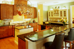Georgian House Plan Kitchen Photo 03 - Le Claire Georgian Home 020S-0002 | House Plans and More