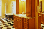 Georgian House Plan Master Bathroom Photo 02 - Le Claire Georgian Home 020S-0002 | House Plans and More