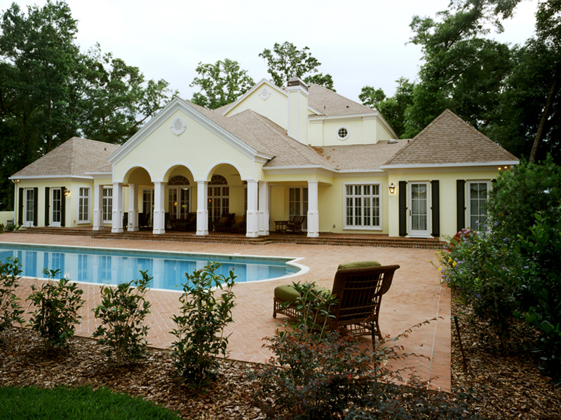 Georgian House Plan Pool Photo - Le Claire Georgian Home 020S-0002 | House Plans and More