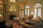 Southern House Plan Living Room Photo 01 - Wembleton Traditional Home 020S-0004 | House Plans and More