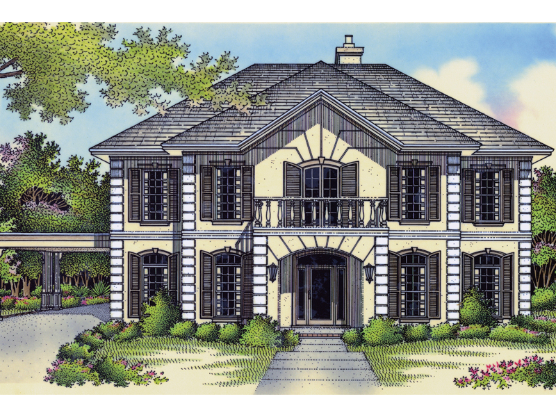 020S 0009 front main 8 - Download Two Storey Georgian House Plans Ireland Gif