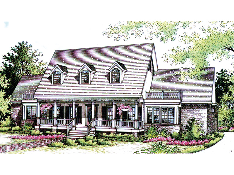 Victorian House Plan Front Image of House - Richardson Southern Home 021D-0020   House Plans and More