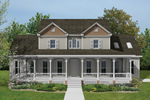 Two-Story Country-Style Farmhouse