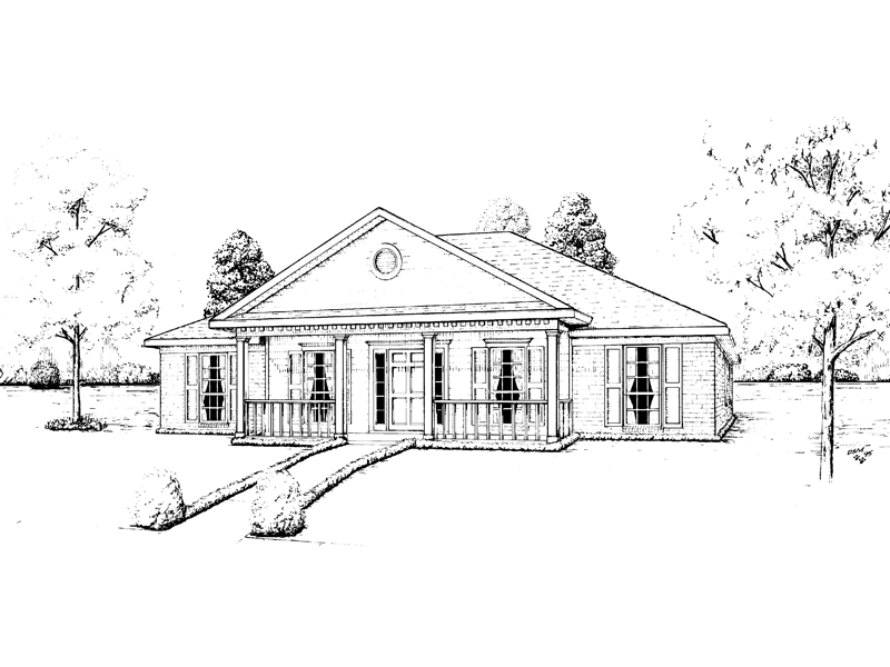 Easely Greek Revival Ranch Home Plan 023D-0018 | House Plans ... on kame house sketch, victorian house sketch, split level house sketch, colonial house sketch, cottage house sketch, bungalow house sketch, contemporary house sketch, cape cod house sketch, pool house sketch, tudor house sketch,