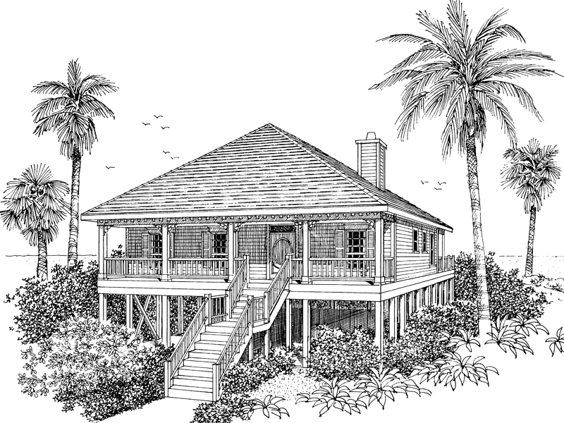Collier Cove Beach Cottage Home Plan 024D-0003 | House Plans ... on raised beachfront house plans, ranch floor plans, unique island house plans, unique raised garden plans, easy for game room floor plans, home addition floor plans, unique open floor plans, unique house plans ranch style, unique contemporary house plans, unique low country house plans,