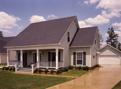 Saltbox House Plans Front of House 024D-0042