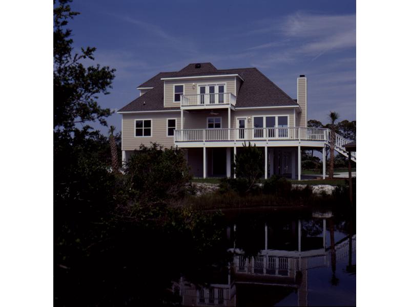 Beach & Coastal House Plan Rear Photo 01 - Pleasant Hill Coastal Home 024D-0047 | House Plans and More