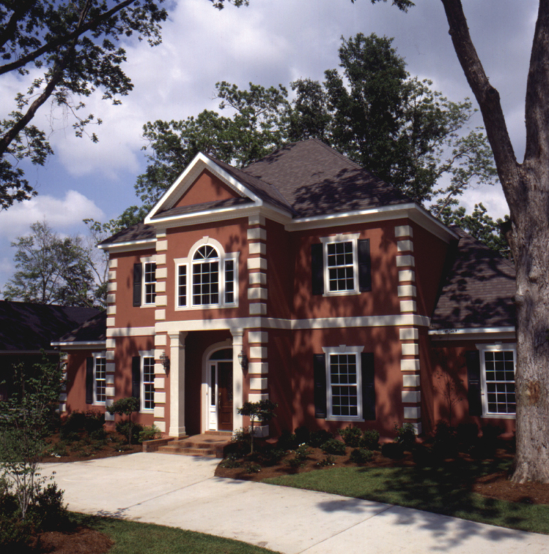 Greek Revival House Plan Front Photo 01 - Whitemire Luxury Colonial Home 024D-0058 | House Plans and More